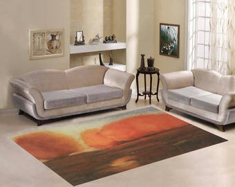 Area Rug 7'×5' +3 other sizes -Autumn Glow- FREE Shipping