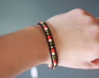 Retro Handmade Leather Wrap Bracelet