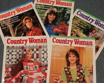 5 Country Woman Magazines~Collectible~