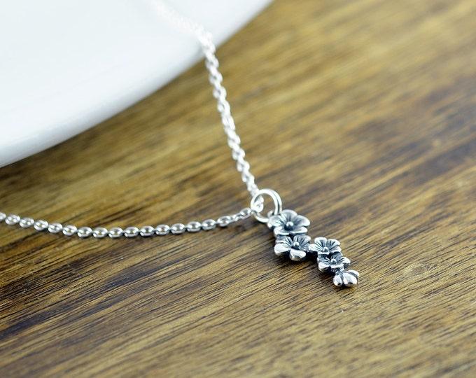 Cherry Blossom Necklace, Cherry Blossom Jewelry, Floral Necklace, Floral Jewelry, Flower Necklace, Japanese Cherry Blossom, Gift for Women