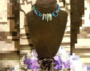 Rainbow Crystal Choker*SALE*