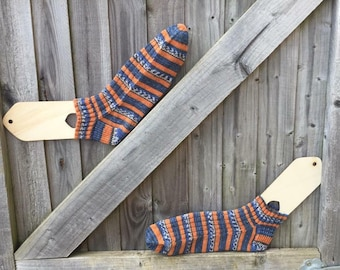 Mens hand knitted ankle socks made to order
