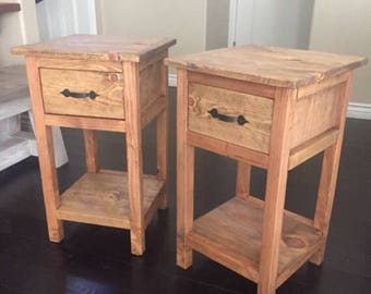 Custom Farmhouse Nightstand End Table | Small Nightstand End Table | End Table | Farmhouse Nightstand | Farmhouse End Table | Wood Furniture
