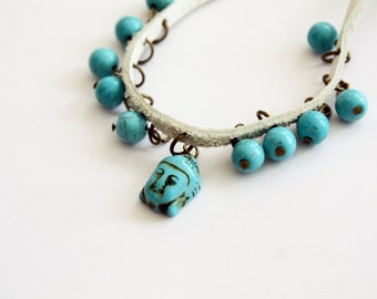 Buddha bracelet, Zen Handmade bracelet, Gemstone Bracelet, Charm Bracelet for womens, mens and children