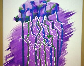 No rain 16x12 original watercolor
