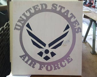 Handpainted Military Wooden Signs (12x12)