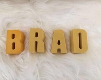 Custom Kid's Names / Nursery Decor / Personalized Name / Yellow