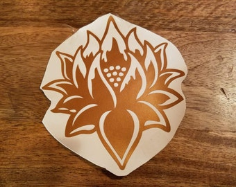Lotus #1 Vinyl Decal (Multiple Sizes & Colors Available)