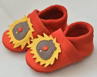 Lion, kids slippers, baby shoes, children's shoes, leather shoes, leather footwear for children,
