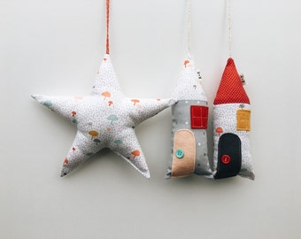 Cottages and star dust for decoration-decorative pillow-cushion cushion-star star-nursery decoration-home pillows