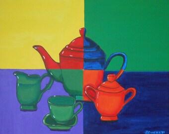 Eclectic English Tea Set