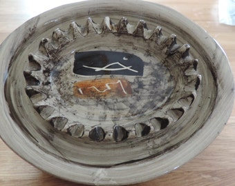 Ashtray - Laurentian pottery - Quebec - Canada - Vintage