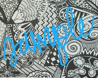 Black and White Design, B&W Design, Nursery Art, Whimsical Art, Modern Art