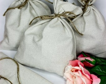3- Linen Bags-pouches-wedding favors-gift bags-small linen bags-rustic bags-favor bags-FREE SHIPPING on orders over 25~