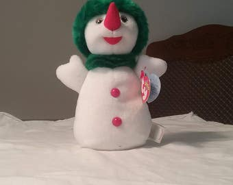 Snow girl beanie baby with tag Mint.