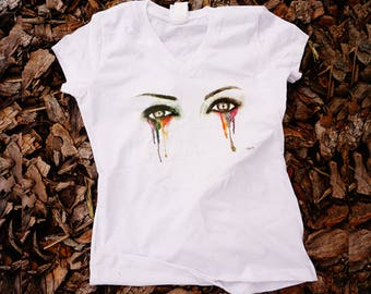 Eyes cry colors T- Shirt for her gift for here Kylie Eyes - frida kahlo shirt