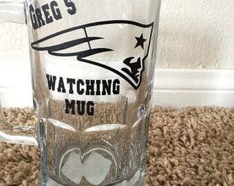 25oz Personalized Patriots Beer Mug