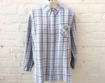 Plaid flannel shirt, oversized 90's fashion