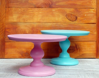 "12"" inch wooden cake stand,birthday cake stand,boy cake stand,girl cake stand,children cake stand,French Cafe Cake Stand,pink cake pedestal"