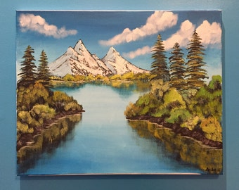 Bob Ross Style Painting - Mountain