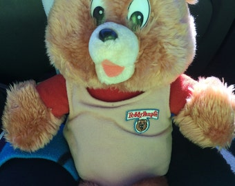 1988 Teddy Ruxpin plush doll without tape player - gently used, see photos