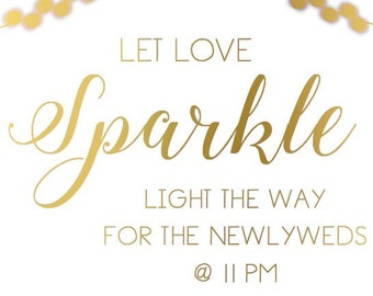 Sparkler Send Off Foiled Sign