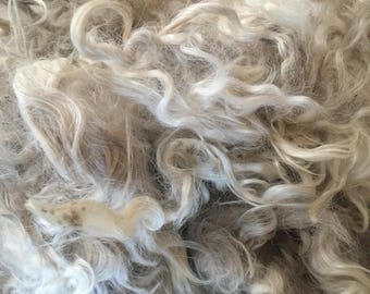 Raw white Angora Mohair