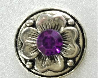 Snap Jewelry, Purple 20mm Snap