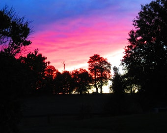 Red, white and blue sunset....