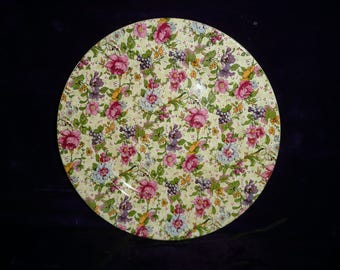 Taylor Smith and Taylor (TST), Iona Chintz china plate