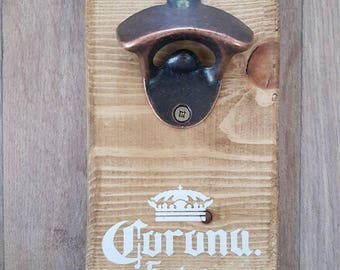 Rustic Vintage Shabby Chic Wall Mounted Beer Bottle Opener