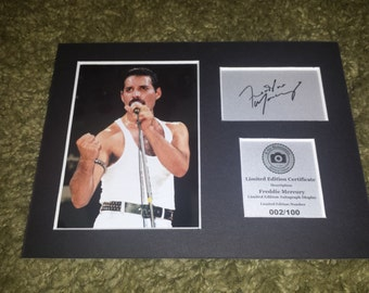 Freddie Mercury ( Queen ) Signed Autograph Display - Mounted And Ready To Be Framed - Free Postage