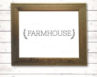 "Farmhouse sign v1.0 8.5x11"" instant digital download farmhouse style sign"