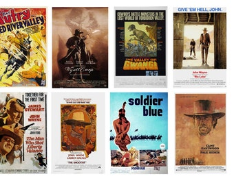 1:25 G scale model western movie theater posters set 2