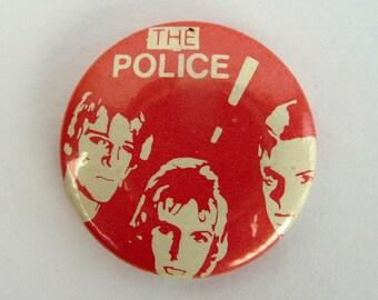 The Police - Original Vintage Pin Back Button Badge