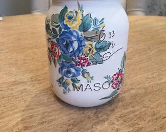 Mason Jar Kilner Jar Flower style ideal for Cath Kidston fans