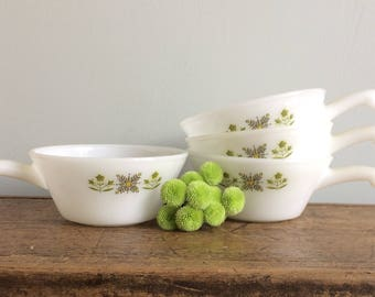 Meadow Green Fire King Bowls