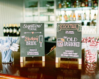 Custom Signature Drink Wedding Signs