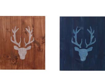 Two Deer Heads on Wood, cervid, roe deer, wall decoration, panache, gift idea, animal, desing, inspiration, decor, interior, home, style,