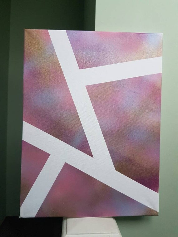 Purple canvas pink canvas gold canvas by