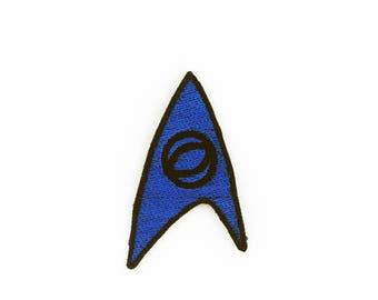 Star Trek Sciences Insignia Patch, Sciences Patch, Iron On Star Trek Patch, Fandom Patch, Cosplay Patch, Star Trek Cosplay Patch