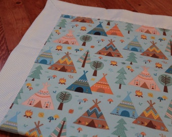 Tent Themed Baby Blanket