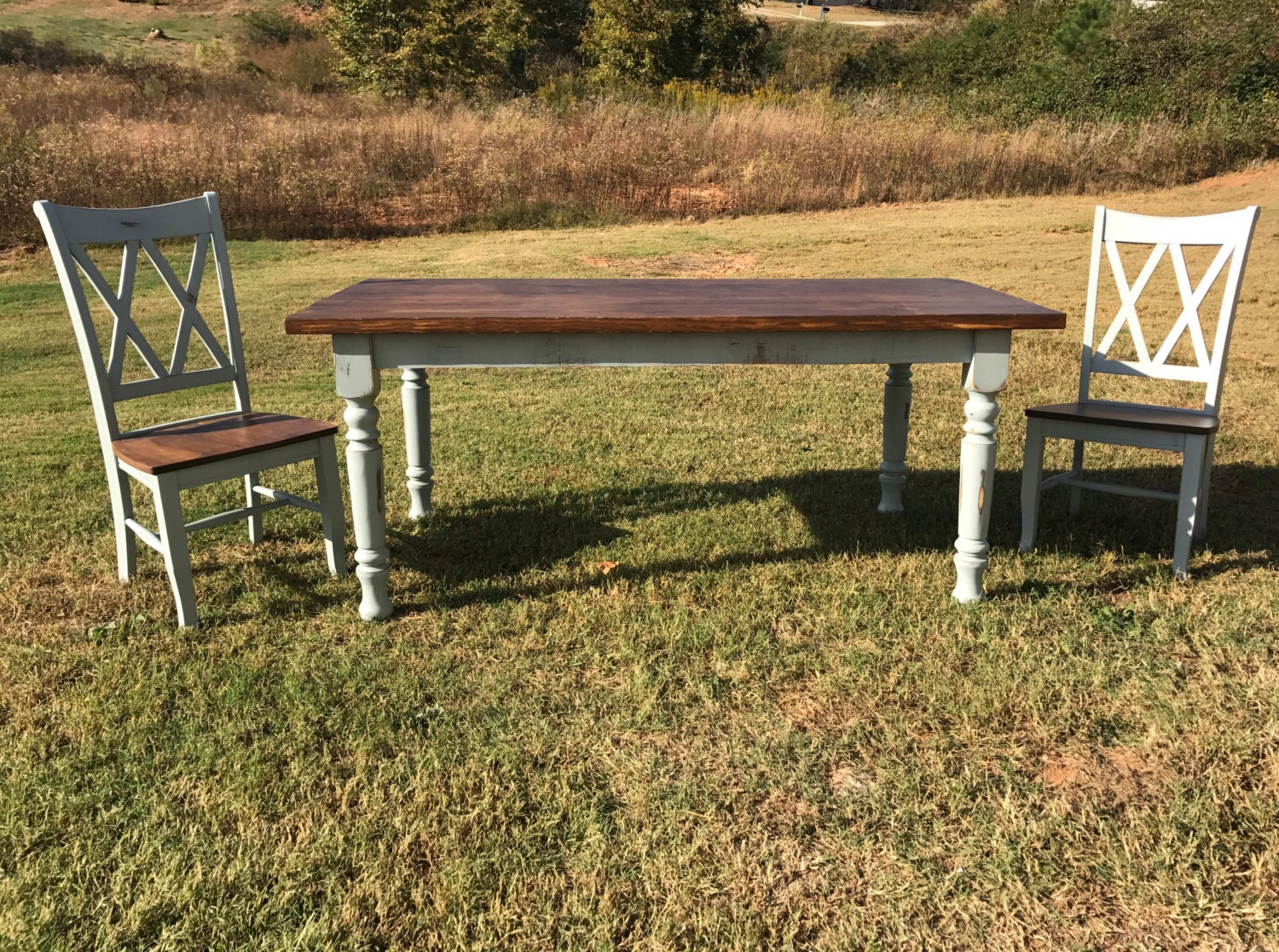 Farmhouse Table Dining Table Solid Wood Table Harvest