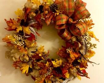 Large Harvest Wreath