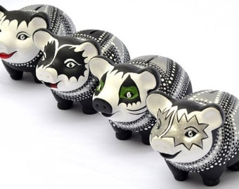Kiss Rock Band Piggy Bank (set of 4)