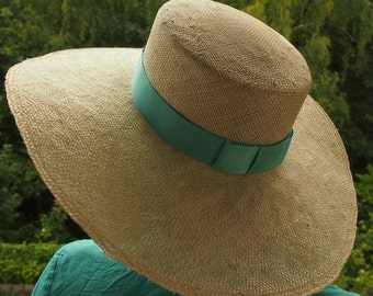 Straw Hat natural turquoise