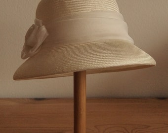 Straw Hat Cloche