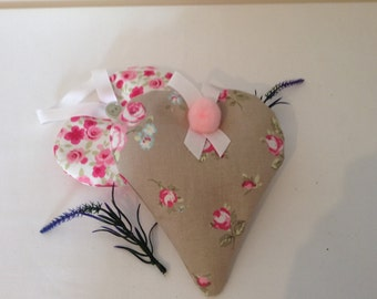 Large Lavender hanging heart