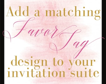 Add a Design/Favor Tag/Coordinating Design/DIY Printing