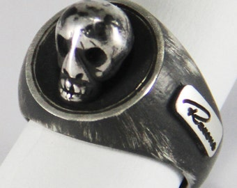 "Dark skull ring-Silver 925-Chevalier-all ""free shipping"""